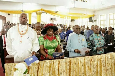 g - Minister Of Transport Chbuike Amaechi And Wife Absent At Rivers state 50th year thanksgiving service