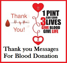 Sample messages and wishes thank you messages for blood donation sample messages and wishes stopboris Choice Image