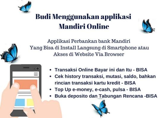 Ilustrasi 6 Daftar Kemudahan Transaksi Menggunakan Mandiri Online