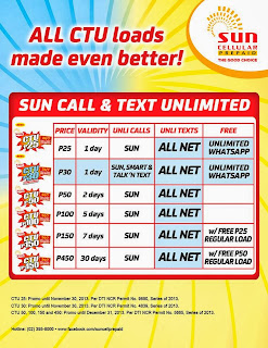 Sun Unli call and text promo