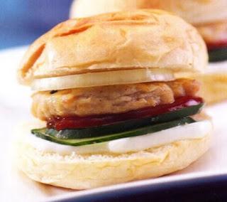 Chicken Burger with Mozzarella Cheese recipe