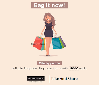 Free Shoppers Stop Vouchers worth Rs.1000