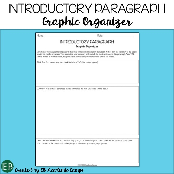 Writing an introduction paragraph middle school