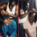 Doting dad! DJ Gosperella pictured helping his daughters with their hair