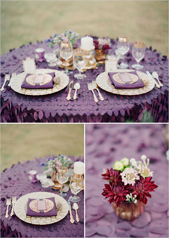 Gold Purple And Ivory Wedding Plan Designing Creations