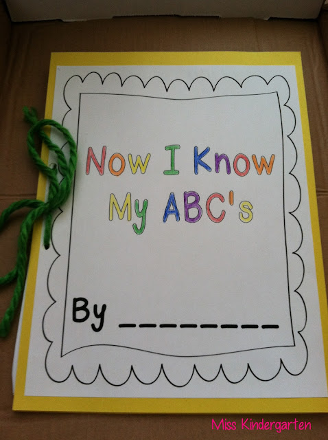 My Abc Book Cover Printable : A z crafts miss kindergarten