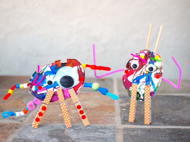 clothespin monster making factory craft for kids