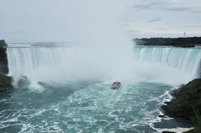 Hornblower Niagara Cruise near to the Horseshoe Falls @ Niagara Falls, Ontario, Canada