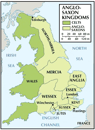 Mercia England Map.Mary Ann Bernal The 4 Kingdoms That Dominated Early Medieval England