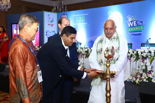 Shri Surya Pratap Shahi Cabinet Minister for Agriculture , Ariculture education and agriculture research lighting the lamp