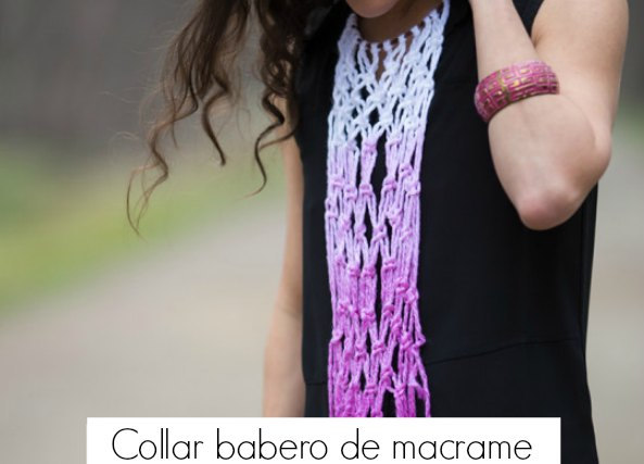 Collar babero de macrame tutorial