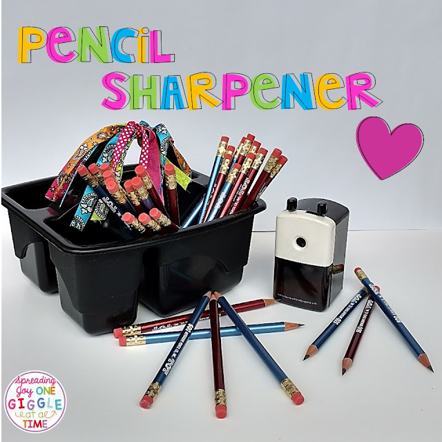 The perfect pencil sharpener for little hands in the classroom!