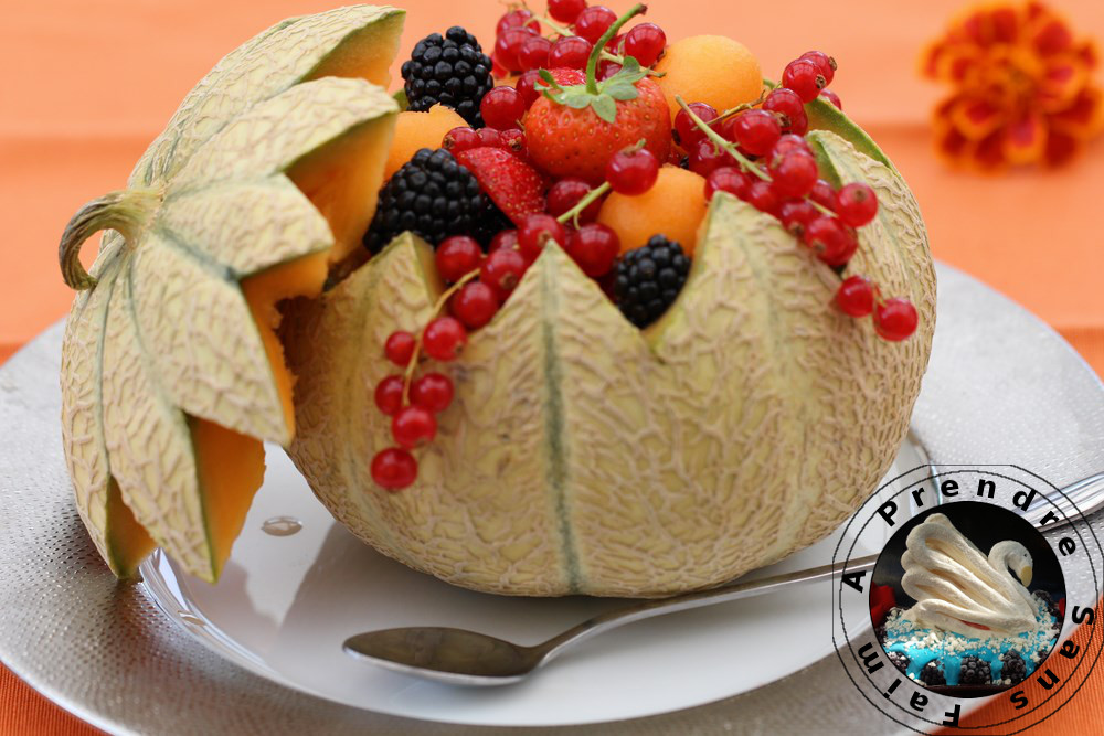 Salade de melon aux fruits rouges