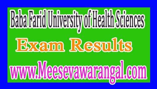 Baba Farid University of Health Sciences PG Diploma 2K16-ND/1 Nov/Dec 2016 Exam Results