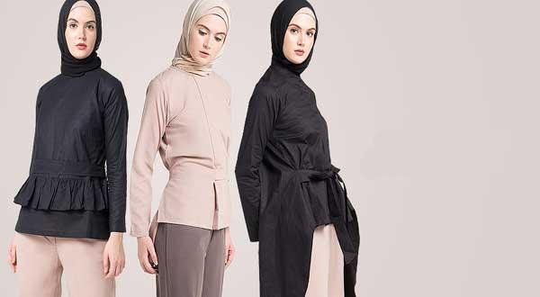 Baju muslim dengan gaya trendy