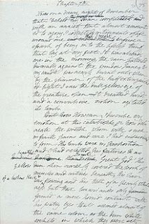 Photograph of draft pages from Frankenstein