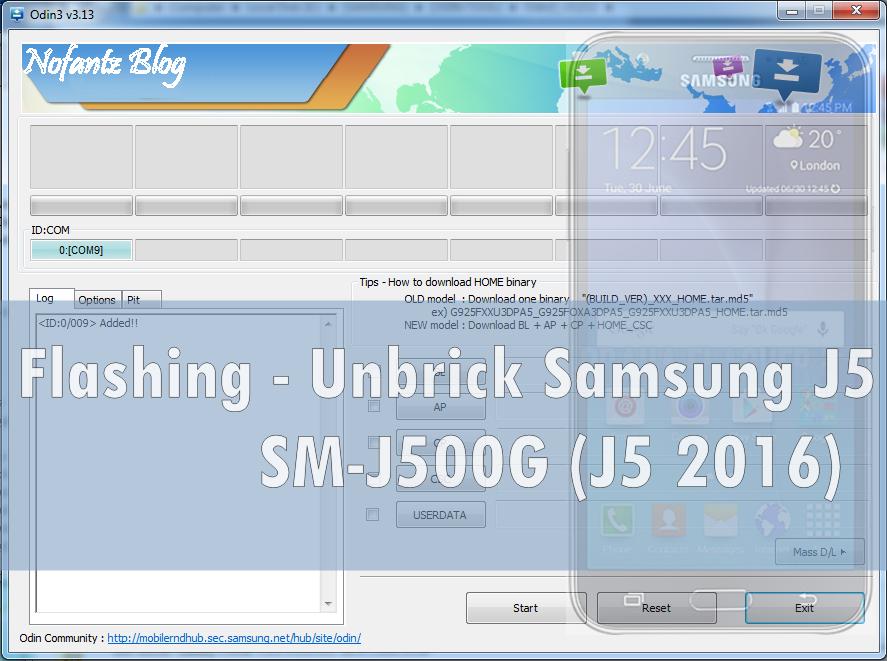 Cara Flashing Samsung Galaxy J5 SM-J500G dengan Odin3 Software