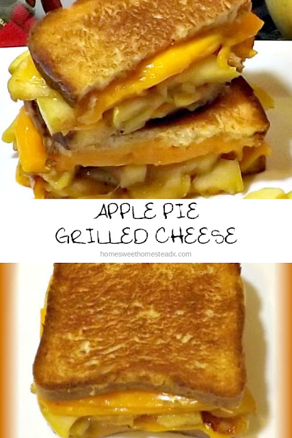 Apple Pie Grilled Cheese Sandwich - Home Sweet Homestead