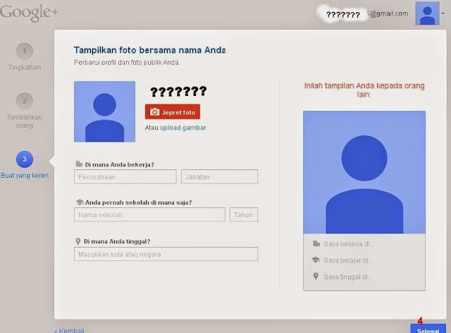Penyelesaian Cara Setting Profil Google+