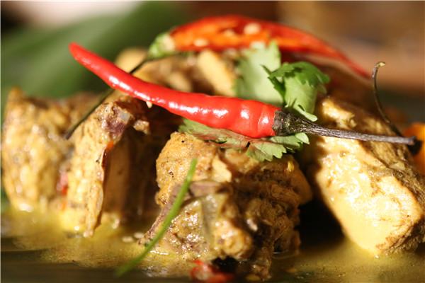 Trinidad chicken curry with coconut milk is a crowd favorite.