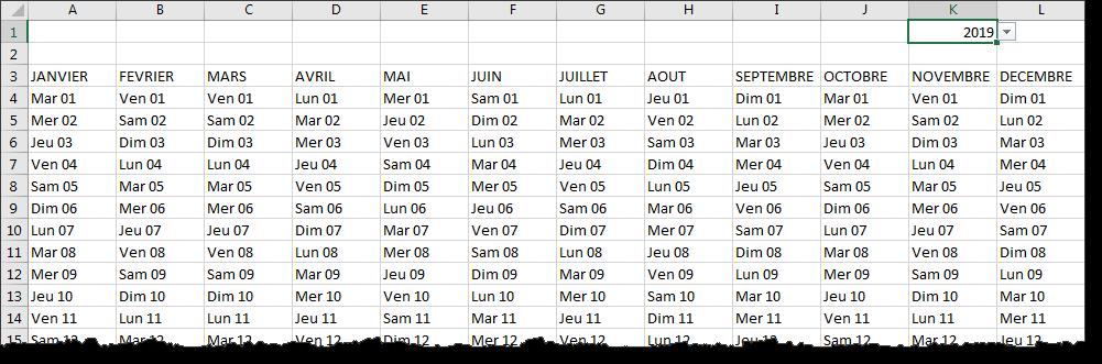 Format de date personnalisé