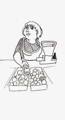 Эвелина Васильева. Продавец овощей