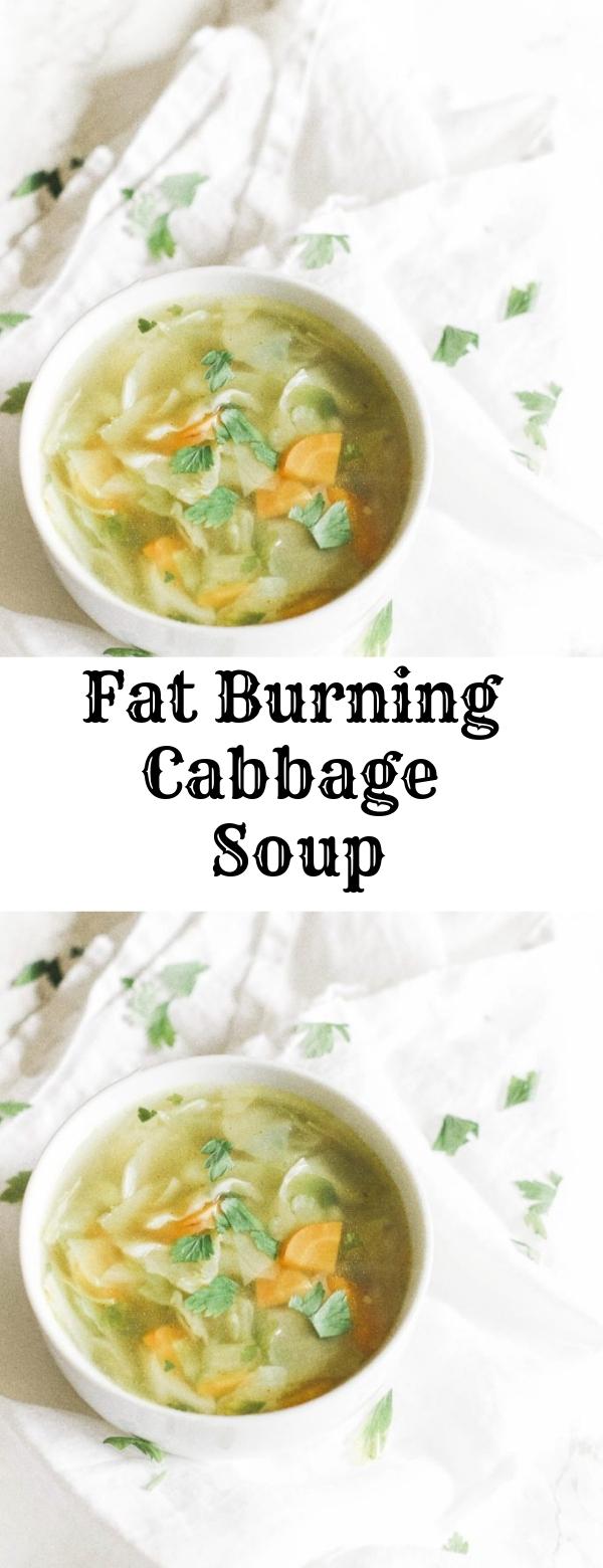Fat Burning Cabbage Soup #KETO #VEGAN #FATBURN #SOUP #PALEO #WHOLE-30 #GLUTENFREE