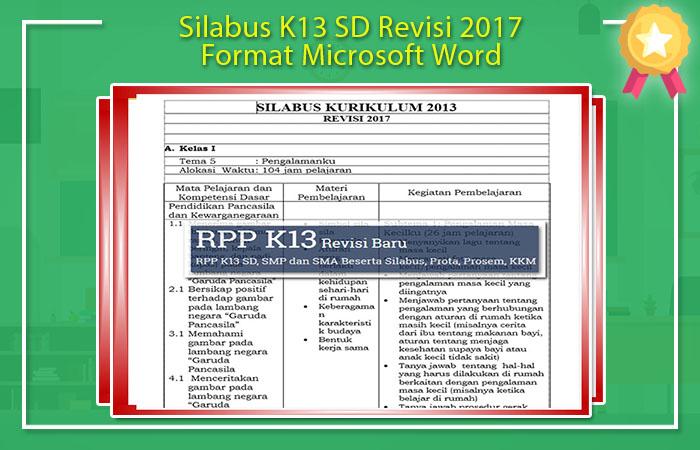 Contoh Silabus K13 SD