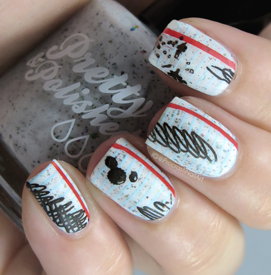 How to make paper nail art gallery nail art and nail design ideas nail art the digit al dozen does paper scribble paper nails as you can see i prinsesfo Images