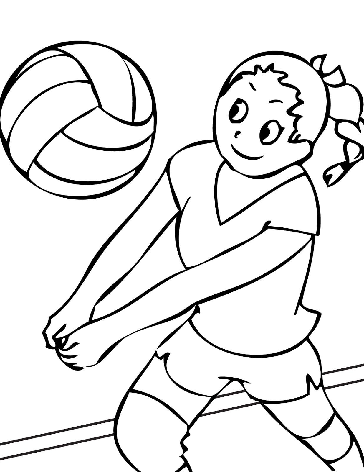 sports coloring pages for kids. Black Bedroom Furniture Sets. Home Design Ideas