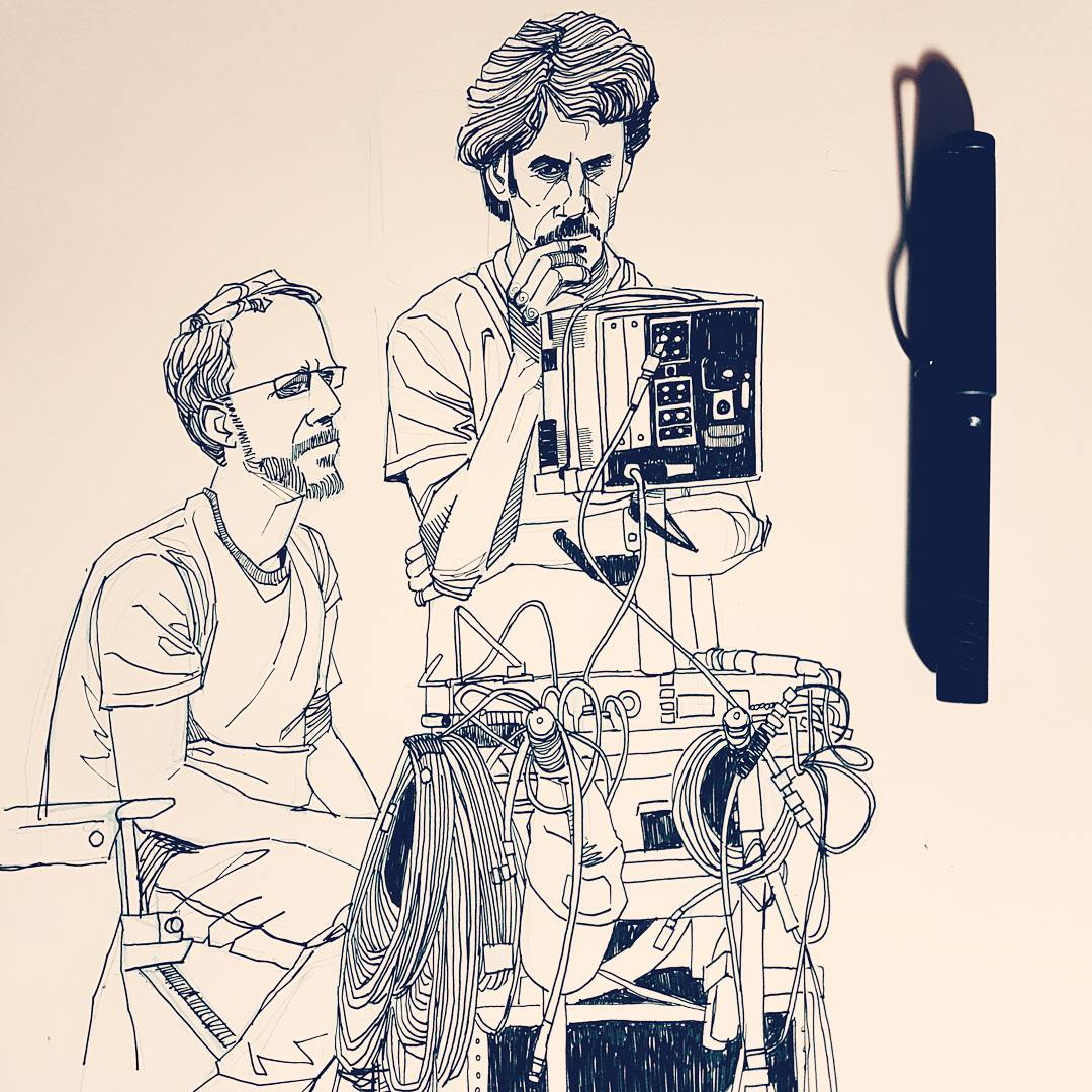 Coen brothers pen drawing