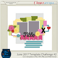 Template : June Challenge Template 2 by Miss Fish Templates