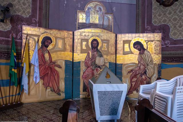 Igreja Imaculado Coração de Maria - interior - altar lateral