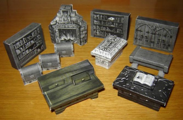 Papermau hero quest furniture for dioramas rpg and wargames by narfss - Paper furniture ...
