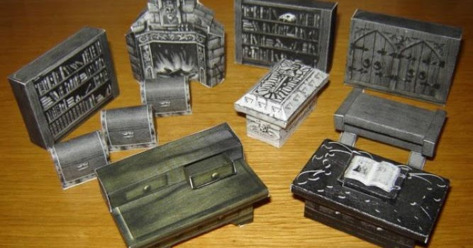 Papermau Hero Quest Furniture For Dioramas Rpg And