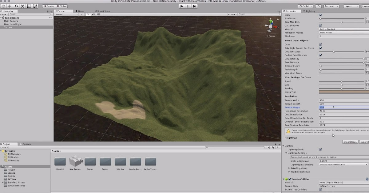How to bring Terrain Data from Houdini to UNITY Workflow