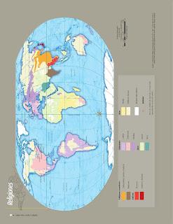 Apoyo Primaria Atlas de Geografía del Mundo 5to. Grado Capítulo 3 Lección 2 Religiones