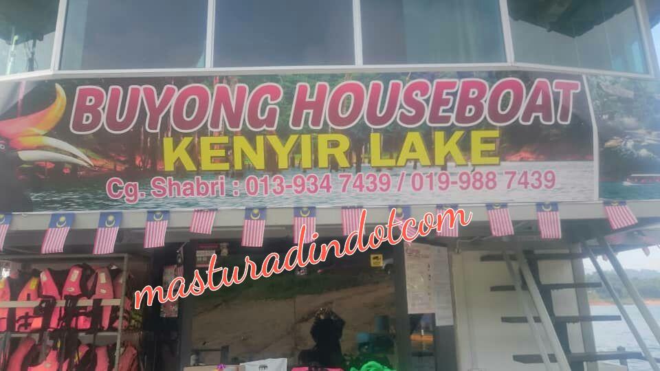buyong houseboat tasik kenyir, houseboat murah, pakej houseboat  tasik kenyir