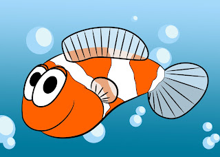 How To Draw A Cartoon Clownfish