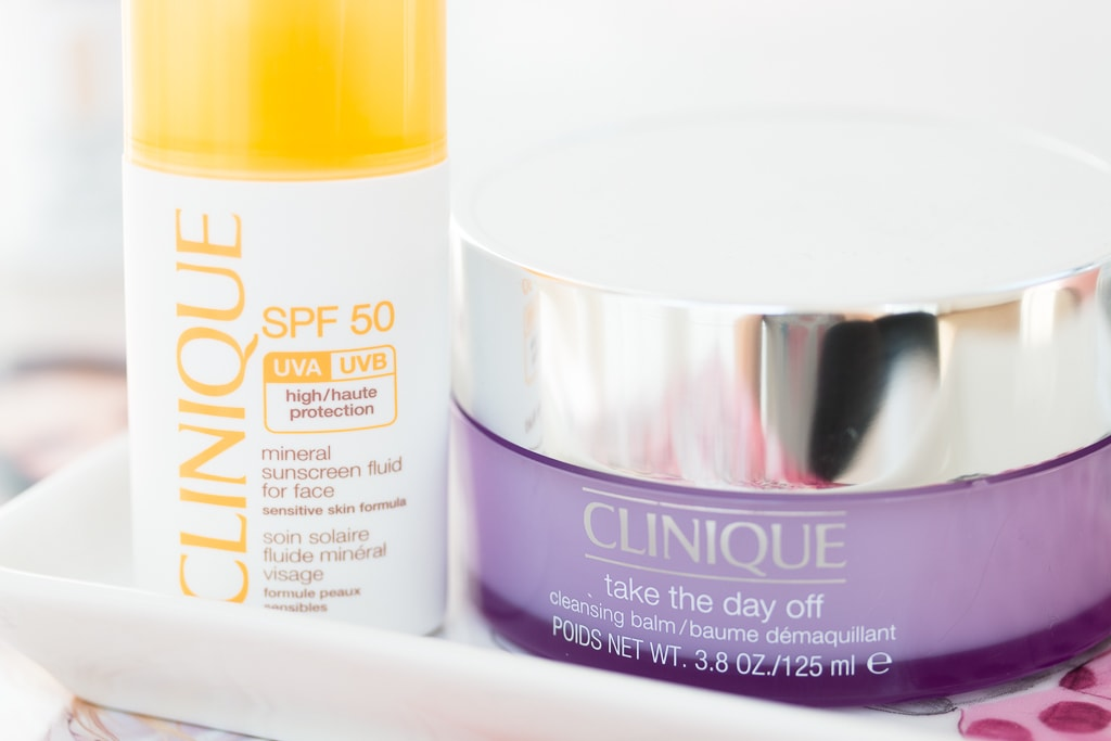 New In Pflege Clinique Mineral Sunscreen Fluid For Face und Clinique Take The Day Off Balm