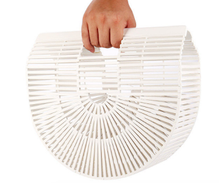 sac a main bambou blanc