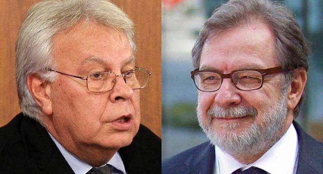 """Felipe González y Juan Luis Cebrián recibidos en la universidad al grito de """"terroristas"""""""