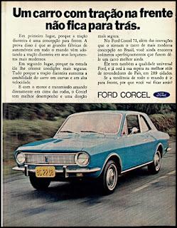 propaganda Ford Corcel - 1970, Ford Willys anos 70, carro antigo Ford, década de 70, anos 70, Oswaldo Hernandez,