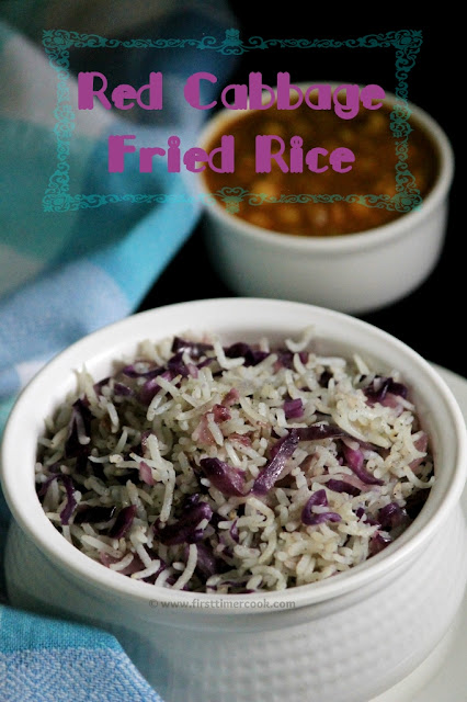 Red Cabbage Fried Rice