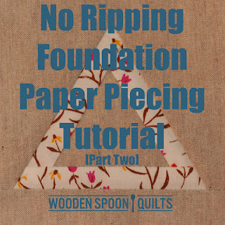 No Ripping Foundation Paper Piecing Tutorial Part Two