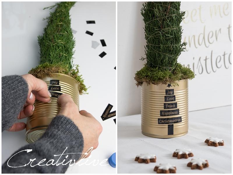 weihnachtliche tischedeko mit brother beschriftungsger t p. Black Bedroom Furniture Sets. Home Design Ideas