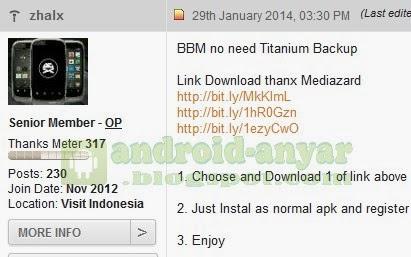 Download BBM Gingerbread Beta Terbaru Langsung Pakai RoID