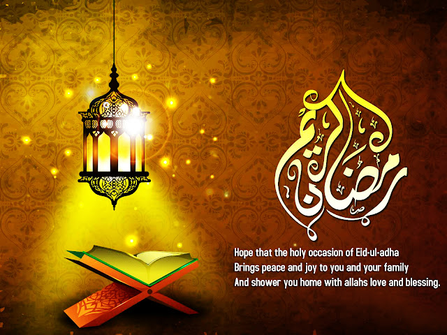 Eid-ul-adha Brings peace and joy to you and your family Happy Ramdan to all Greeting Card