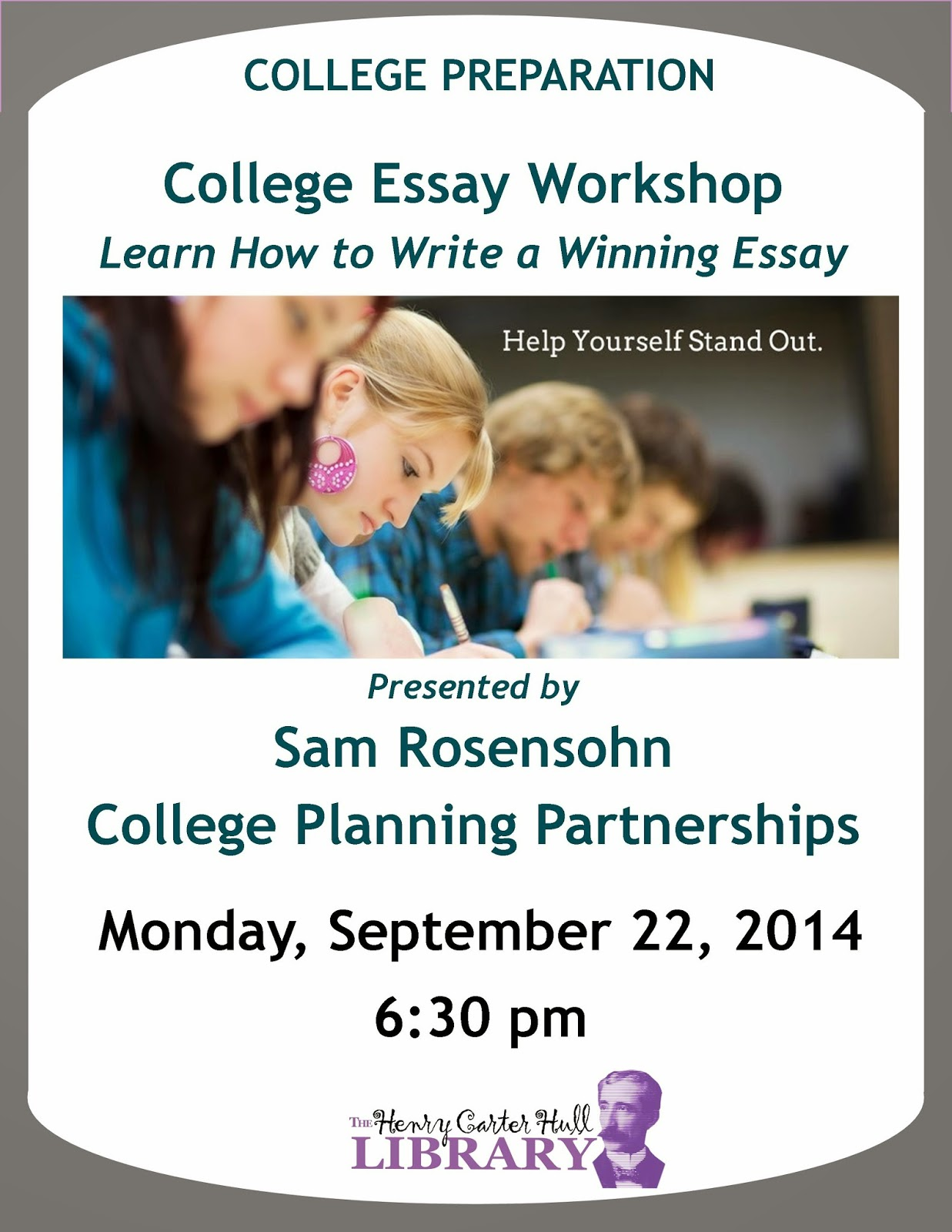 hch library news clinton ct learn how to write a winning college essay sam rosensohn of college planning partnerships