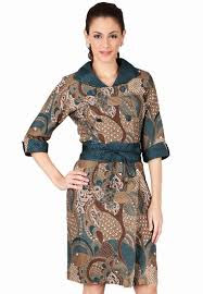 Model Dress Baju Batik Semar Terbaru